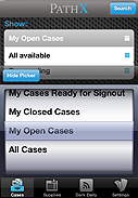 3. PathX Case Search Screen
